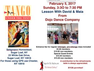 Tango Milonga 2/5/17