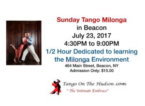 Sunday Milonga Beacon 7/23