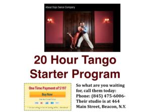Tango 20 Hour Starter Program