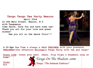 Tango Tango Tea Party Beacon- Sunday, April 23, 2017