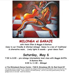 Milonga May 6, Rhinebeck