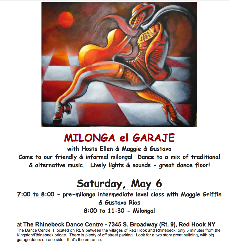 Milonga May 6, Rhinebeck