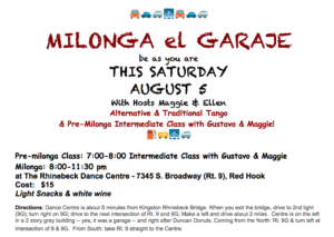 Milonga Sat. 8/5/17- Red Hook